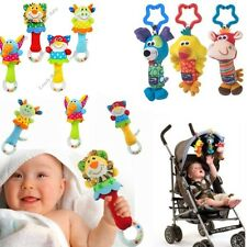1x Kids Infant Baby Soft Handbells Rattles Handle Stroller Developmental Toy P01