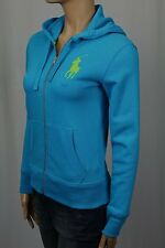 Ralph Lauren Blue Full Zip Hoodie Sweatshirt Big Pony NWT