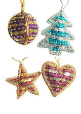 BNWT Namaste Bead and Sequin Christmas Decorations!!
