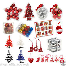 Christmas Tree Decorations Xmas Decor Hangers Snowman Santa Baubles Reindeer Lot