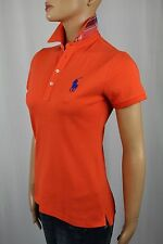 Ralph Lauren Sport Orange Big Pony Plaid Polo Shirt NWT
