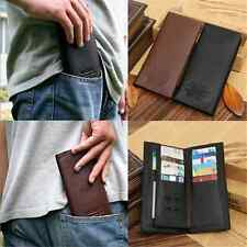 Charm Elegant Men Long Casual Leather Wallet Pockets Clutch Cente Bifold Purse