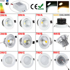 DIMMABLE LED COB RECESSED LIGHTING CEILING DOWN LIGHT LAMP WHITE 3W 5W 7W 9W 12W