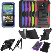 Phone Case For HTC Desire 520 Holster Belt Clip Rugged Cover Kickstand