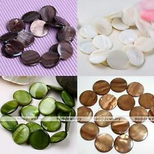 25mm Mother Of Pearl Shell Round Coin Loose Charms Finding Beads Fit Jewelry DIY
