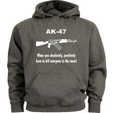 AK47 hoodie funny ak-47 sweatshirt Men's size sweat shirt 2nd amendment