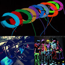 1M Neon LED Strip Light Glow EL Wire Tube Rope 12V Flexible Party Decorate Lamp