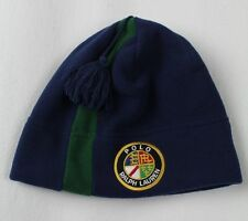 Polo Ralph Lauren Blue Green Fleece Beanie Hat Skull NWT