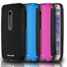Tough Hybrid Built-in Screen Protector Case Cover For Motorola Moto G 3rd Gen