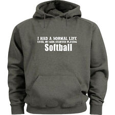 Softball Mom Dad hoodie softball sweatshirt Men's size sweat shirt hoody