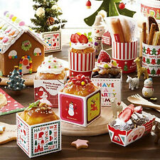 10-100X Christmas Cake Baking Paper Cup Cupcake Muffin Cases Party Afternoon Tea
