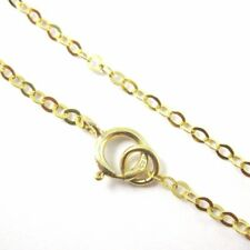 22K Gold plated Sterling Silver Necklace Chain 2mm Flat Cable Link (All Sizes)