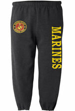 US Marines sweatpants Men's size USMC sweats marine corps sweat pants dark gray