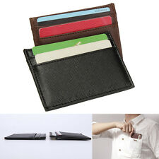 Pocket Casual Leather Slim Credit Name Card Case Organizer ID Cash Holder Wallet