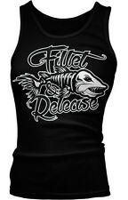 Fillet & Release Fishing Humor Funny Fisherman Catch Joke Boy Beater Tank Top