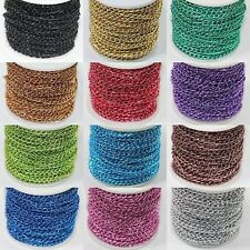 Wholesale 1/5/100M Delicate Aluminum Chain Finding 4x6mm Jewellery Making DIY