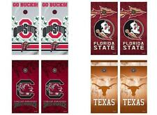 Choose Your NCAA College Team Tailgate Toss Cornhole Vinyl Shield Decal Wraps