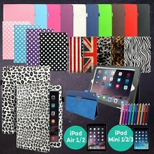 Folio Magnetic PU Leather Smart Cover Stand Case For Apple iPad Air/ Air 2/ Mini