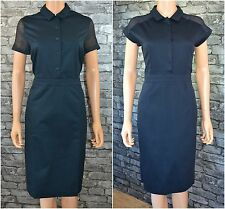 Nwt Laura Clement Elegant Tailored Dark Blue Pencil Dress Sizes 6 - 22 *RRP £89*