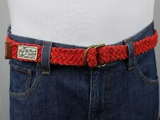 Polo Ralph Lauren Red Rope Belt Double D Brass Buckle NWT