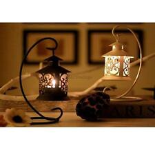 Black/White Moroccan Candle Holder Tea Light Stand Table Centerpiece Decor