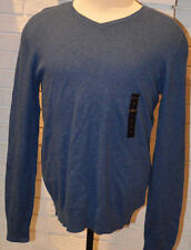 Men's Marc Anthony Blue Long Sleeve V-Neck Pullover Ltwt. Sweater Top Size Large