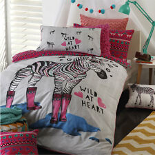 Logan and Mason ZIPPY PINK Single | Double Bed Size Doona Duvet Quilt Cover Set