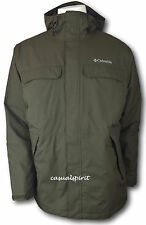 New Columbia mens waterproof Omni Tech insulated hooded jacket coat Brown