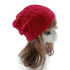 Fashion Unisex Knitted Baggy Beanie Casual Hat Winter Warm Oversized Ski Cap