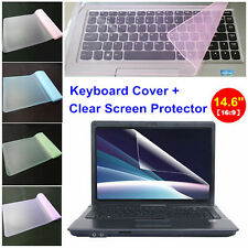 "Clear 14.6"" Laptop Notebook LCD Monitor Screen Protector Cover+Keyboard Cover"