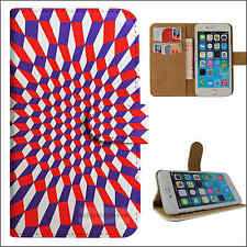 S2279-The red and blue box Flip wallet case cover for Samsung/iphone/Nokia/HTC