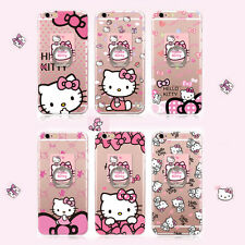 Cute Cartoon Hello Kitty Ring TPU Soft Case Cover for Apple iPhone 6 6 Plus 5.5