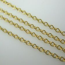 Gold Plated Sterling Silver Chain,WHOLESALE Vermeil Bulk Chain, 2mm Cable Chain