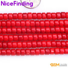 """Red Coral Stone Rondelle Spacer Beads For Jewelry Making Loose Beads Strand 15"""""""