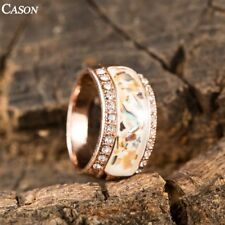 Fashion Swarovski Crystal 18k Rose Gold Plated Women Party  Band Ring Jewelry