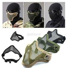 New Airsoft Steel Metal Mesh Half Face Mask Tactical Protective Strike Paintball
