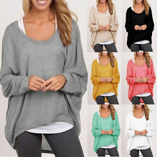 Women Loose Knitwear Batwing Sleeve Pullover Casual Oversize Baggy Jumper Tops