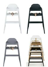 New Safetots stackable wooden baby high chair, commercial restaurant highchair
