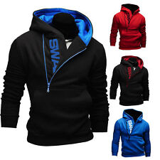 Men Slim Pullover Hoodie Warm Fleeces Top Hooded Sweatshirt Coat Sweater Outwear
