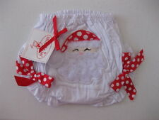 MUD PIE SANTA HOLIDAY BLOOMER DIAPER COVER NEW