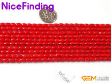 Column Red White Pink Orange Coral Stone Beads For Jewelry Making Wholesale Bead