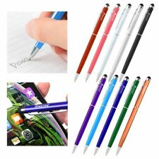 2-in-1 Stylus Ballpoint Touch Pen For Apple iPad iPhone iPod Samsung Cell Tablet