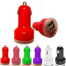 TWIN BULLET USB PORT IN CAR TRAVEL CHARGER ADAPTER FOR LG G FLEX D955