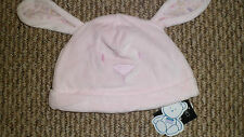 NEW CUTE BABY GIRL HATS PINK RABBIT FEATURES WITH EARS 3-6 OR 6 -9 MONTHS