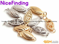 Yellow White Fish Clasps 14K Gold Plated Jewelry Making Design Findings 1 Pcs