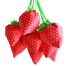 New Strawberry Foldable Eco Bag Reusable Shopping Tote Shoulder Purse Cute Purse