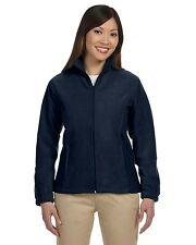 Harriton Jacket Coat Women's 8 oz Full-Zip Fleece Solid M990W Size/Color Choice