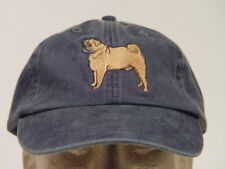 PUG DOG HAT ADAMS SOLID COLOR LADIES MEN BASEBALL CAP - Price Embroidery