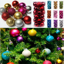 24PCS Fashion Xmas Tree Ball Bauble Hanging Ornament Party Holiday Decor FT76