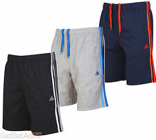 adidas Mens Clima 365 Performance Ess Black Grey Navy Blue Cotton Jersey Shorts